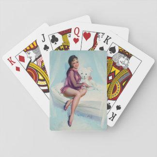 Bear, circa 1960 Pin Up Art Playing Cards
