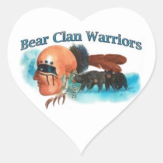 Bear Clan Warriors Heart Sticker