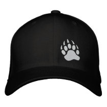Bear Claw Embroidered Baseball Cap