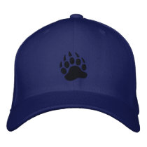 Bear Claw Embroidered Baseball Hat