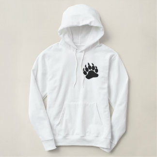 Bear Claw Embroidered Hoodie