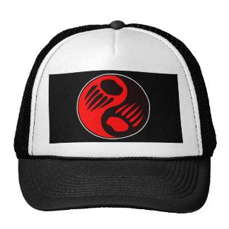 Bear Claw Yin Yang Black Trucker Hat