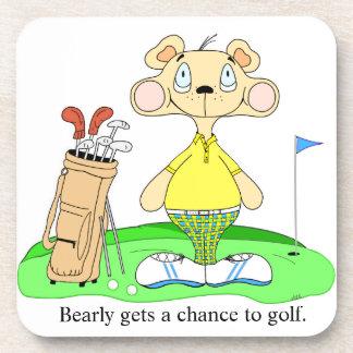 Bear Coasters Featuring Golfing Bear