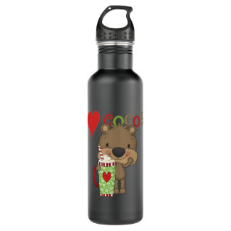 Bear Cocoa Love Holiday 24oz Water Bottle