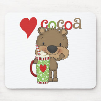 Bear Cocoa Love Holiday Mouse Pads