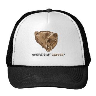 bear coffee trucker hat