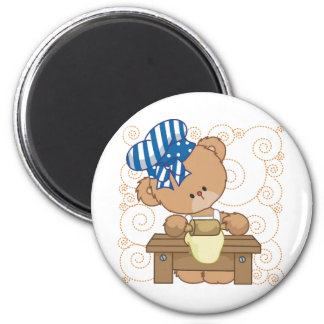 Bear Cook 2 Inch Round Magnet