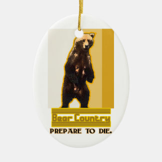 Bear Country Ceramic Ornament