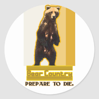 Bear Country Classic Round Sticker