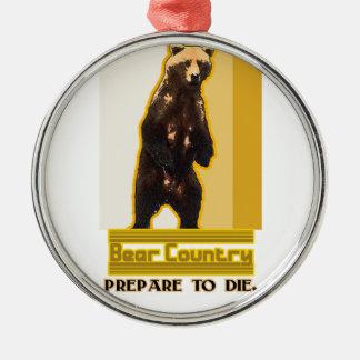 Bear Country Metal Ornament