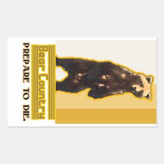 Bear Country Rectangular Sticker