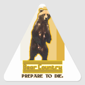 Bear Country Triangle Sticker