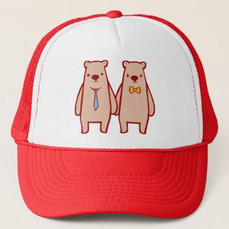 Bear Couple Doodle Art Hat