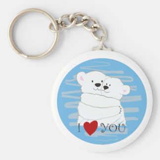 Bear Couple Polar Cute Love Winter Hug Lovely Keychain