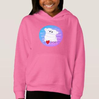 Bear Couple Polar Cute Love Winter Hug Pink Neon Hoodie