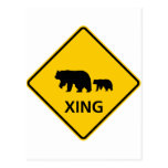 Bear Crossing Highway Sign Post Card