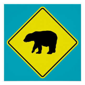 Bear Crossing Road Poster