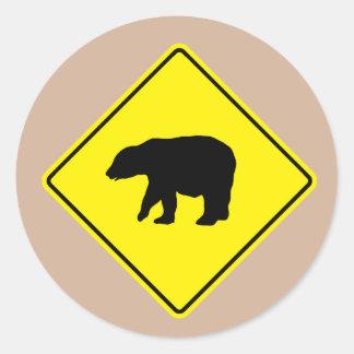 Bear Crossing Road Sticker