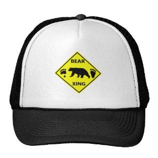 Bear Crossing Sign Trucker Hat