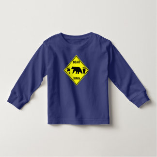 Bear Crossing Sign with Bear and Tracks Toddler T-shirt