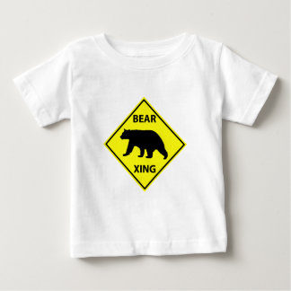 Bear Crossing Sign with Bear Baby T-Shirt