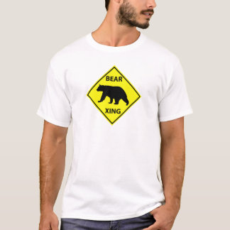 Bear Crossing Sign with Bear T-Shirt