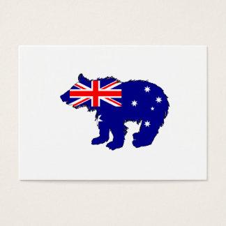 "Bear Cub ""Australia"" Business Card"