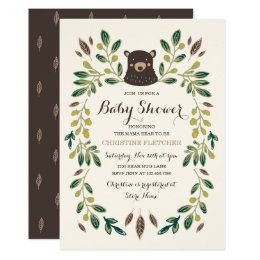 Bear baby shower invitations announcements zazzle bear cub baby shower card filmwisefo Choice Image