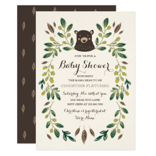 Bear Cub Baby Shower Card at Zazzle