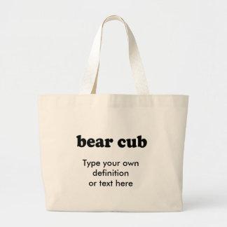 BEAR CUB JUMBO TOTE BAG