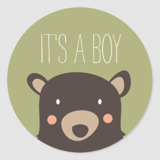 Bear Cub Classic Round Sticker