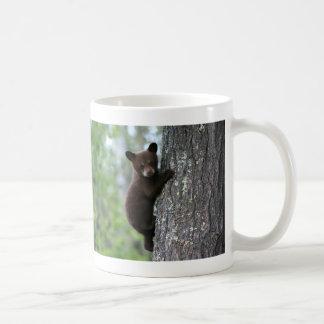 Bear Cub Climbing a Tree Classic White Coffee Mug