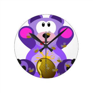 Bear cub round clock