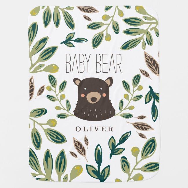 Bear Cub Stroller Blanket