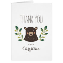 Bear Cub Thank You Card
