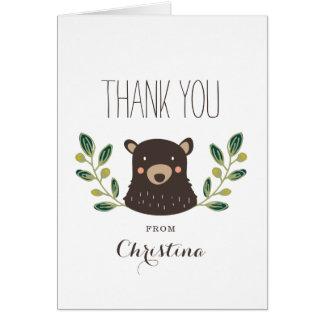 Bear Cub Thank You Card