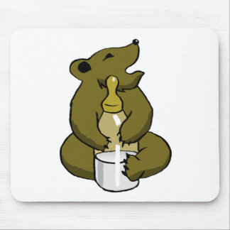 Bear Cub With Bottle Mousepads