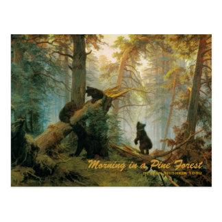 Bear Cubs 1889 Vintage Postcard