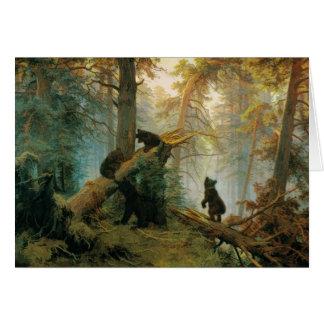 Bear Cubs by Ivan Shishkin 1889 Vintage Art Card