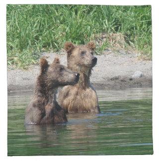 Bear Cubs Cotton Cloth Napkins