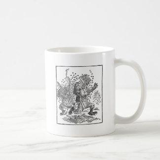 Bear Cubs Running from Swarm of Bees Coffee Mug