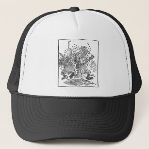 e1c2d7738f1 Bear Cubs Running from Swarm of Bees Trucker Hat