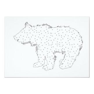 Bear cup - snow style card