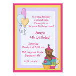 Bear Cupcake Birthday Party Invite