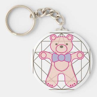 bear_da_vinci basic round button keychain