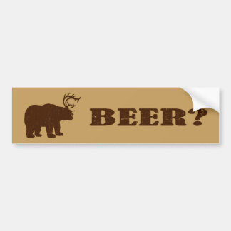 Bear + Deer = Bear? Funny Hunting Bumper Stickers