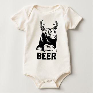 Bear + Deer = Beer Baby Bodysuit