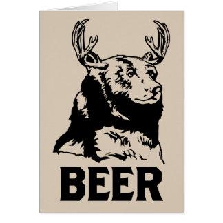 Bear + Deer = Beer Card