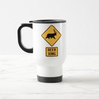 Bear Deer Beer Crossing Travel Mug