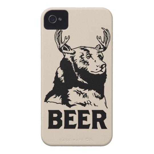 Bear + Deer = Beer iPhone 4 Case